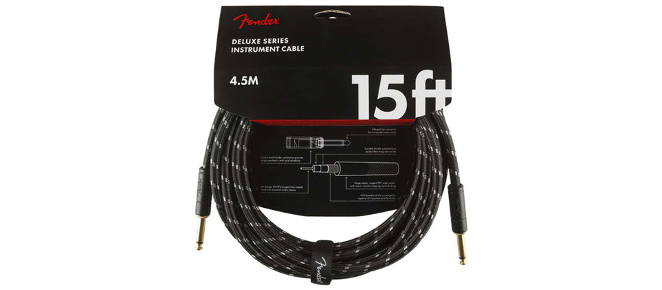 CABLE INSTRUMENTO DELUXE 4,5MTS TWEED BLACK  0990820083 FENDER