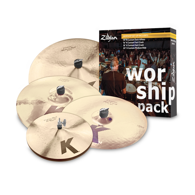 SET PLATILLOS WORSHIP MUSIC PACK K CUSTOM KC0801W ZILDJIAN