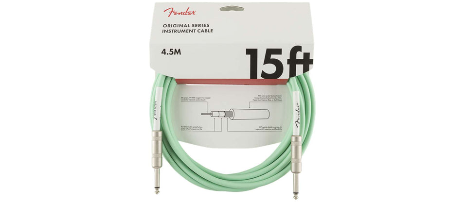 CABLE INSTRUMENTO 4,5 MTS SURF GREEN  990515058 FENDER