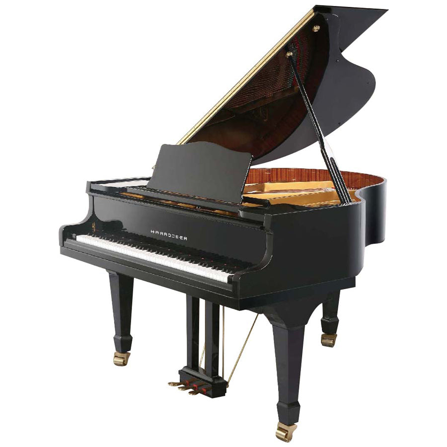 PIANO DE COLA HG-158 BLACK C/SILLA HARRODSER