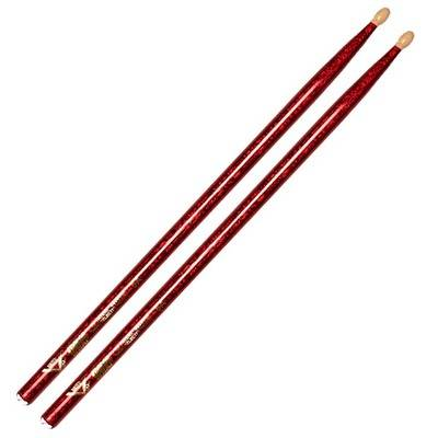 BAQUETAS 5A PUNTA MADERA RED SPARKLE VATER