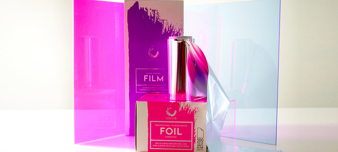 salon foil hair film and hair coloring meche for professional colorists colortrak