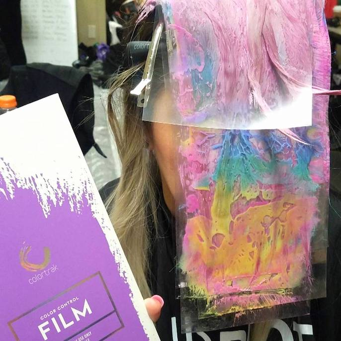 hair coloring film for hair painting