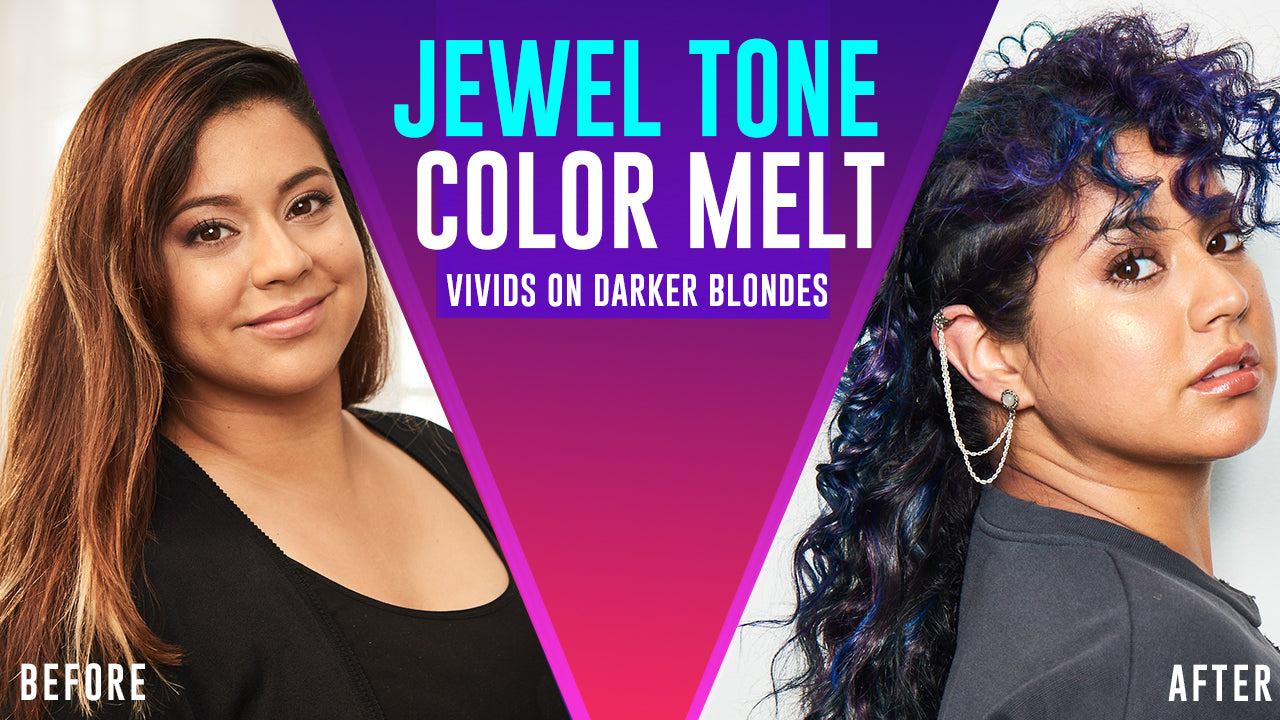 jewel tone color melt tutorial