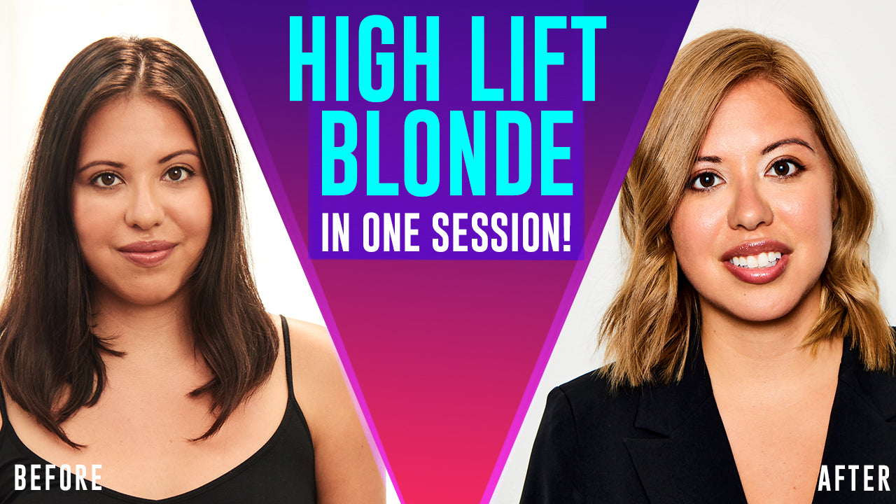 high lift blonde tutorial