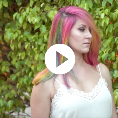 candy rainbow hair colortrak tutorial