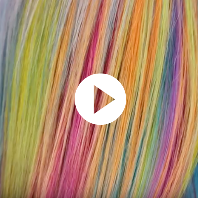 rainbow meche hair color tutorial