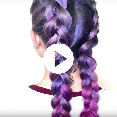 violet to magenta hair color tutorial