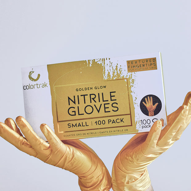 Luminous Collection Nitrile Gloves | Golden