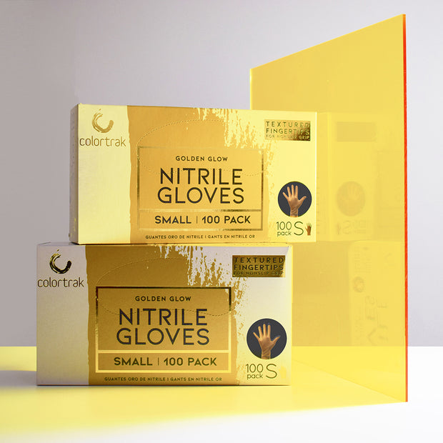 Colortrak Salon Gloves | Golden Glow Nitrile Gloves
