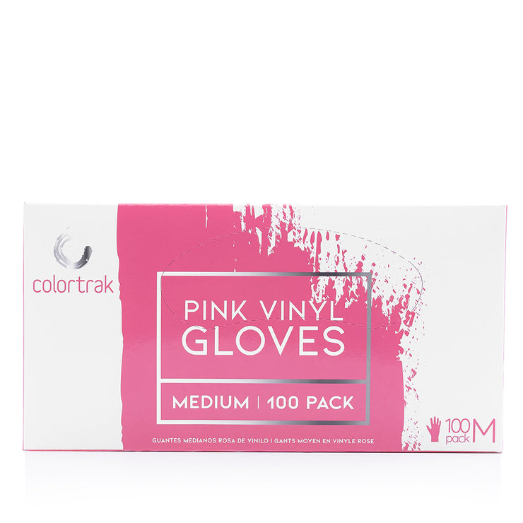 100pk Pink Vinyl Disposable Gloves