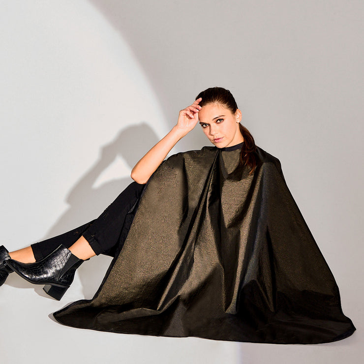 Betty Dain All-Purpose Reversible Midnight Shimmer Styling Cape