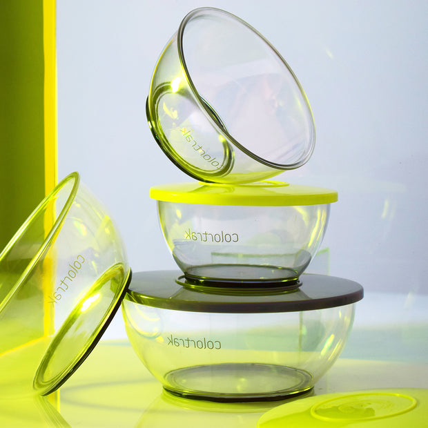 Clear Bowls  With Lids | Colortrak Salon Tools