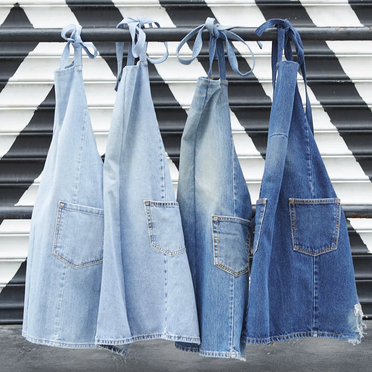 Colortrak Aprona The Wynwood Denim Apron, Reclaimed Jean Apron