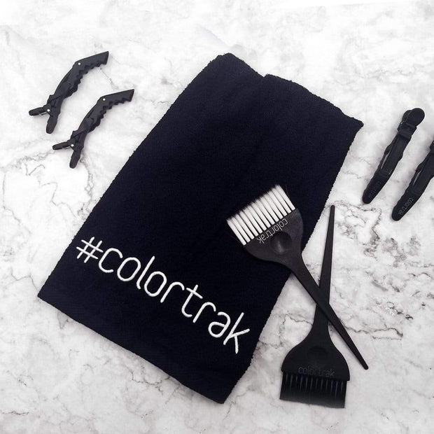 Hair Salon Towel with Tools | Colortrak Bleach-Proof Salon Towel