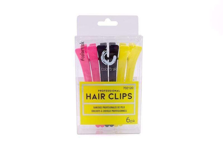 Colortrak Professional Hair Clips 6PK | Hair Stylist Supply Clips