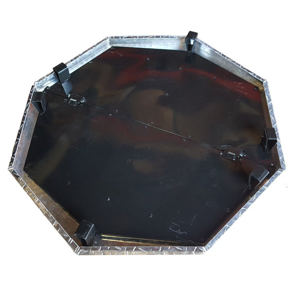 Northland Metal deck defender grass guard fire pit heat shield MAX bottom view. DD3040