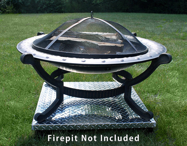 deck defender grass guard fire pit heat shield fire pit not included DD3026