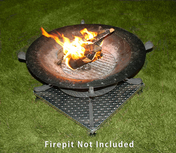 deck defender grass guard fire pit heat shield in action DD3026