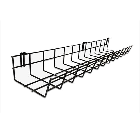 under desk wire cable tray organizer for cord and cable management 24 inch CT9424
