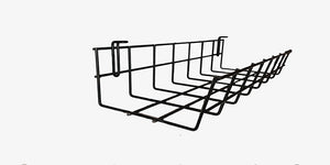 under desk wire cable tray organizer for cord and cable management 14 inch CT9414