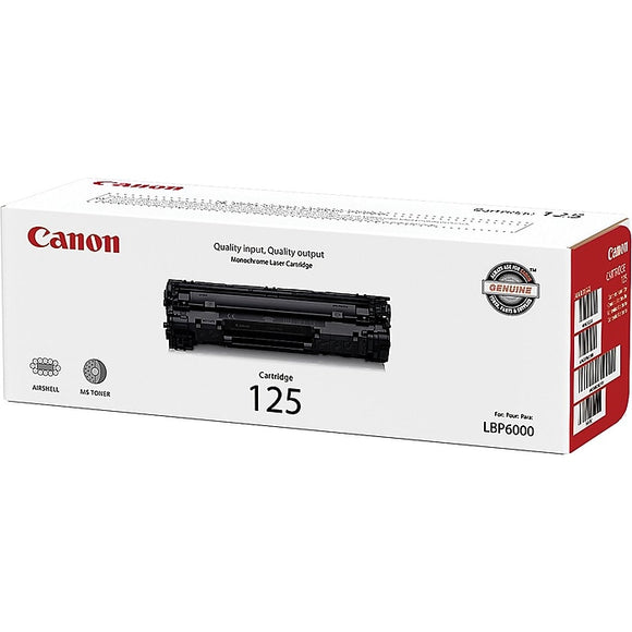 Canon 125 Black Toner Cartridge, Standard (3484B001AA)