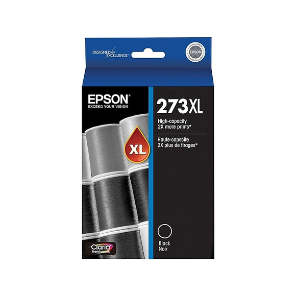 Epson 273XL Black Ink Cartridge, High Yield (T273XL020-S)