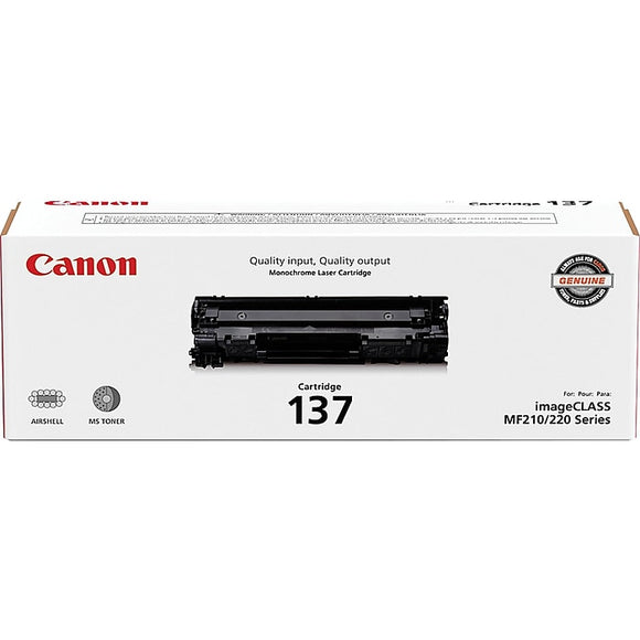 Canon 137 Black Toner Cartridge, Standard (9435B001AA)