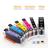 Compatible Ink Cartridge Canon PGI-280XXL CLI-281XXL PGI 280 XXL CLI 281 XXL 6 Pack - E-Z Ink Inc.