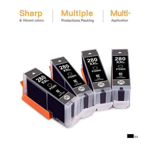 4 Pack Compatible Toner Cartridge Replacement for Canon 104 - E-Z Ink Inc.