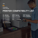 Compatible Toner Cartridge Brother TN760 TN-760 TN730 2 Pack
