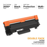 E-Z Ink (TM) with Chip Compatible Toner Cartridge Replacement for Brother TN760 TN 760 TN730 to use with HL-L2350DW HL-L2395DW HL-L2390DW HL-L2370DW MFC-L2750DW MFC-L2710DW DCP-L2550DW (Black, 2Pack) - E-Z Ink Inc.