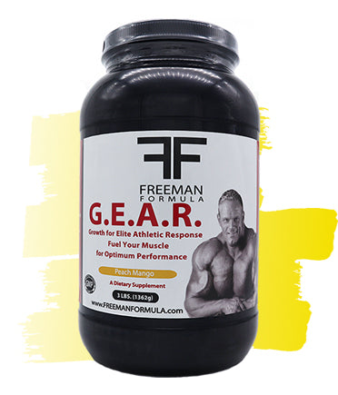 G.E.A.R. Pre and Post Training Fuel - Peach Mango  | Freeman Formula Supplements