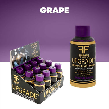 GRAPE UPGRADEⓇ is the best nootropic brain formula that creates long-lasting, non-jitter, no-adrenal stimulant energy, incredible mental clarity, and sustained focus. Resulting in accelerated reaction time, better focus, productivity, and an awakening of senses.
