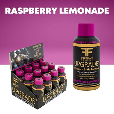 Raspberry Lemonade 12-Pack | UPGRADE - Ultimate Brain Energy Formula