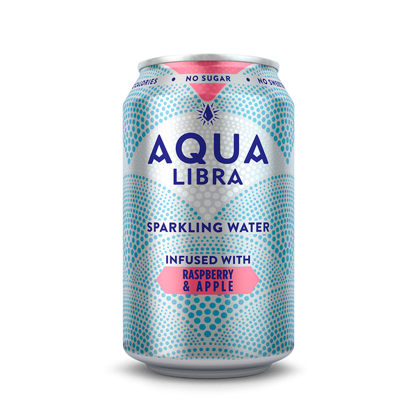 Image of can of Aqua Libra Raspberry and Apple
