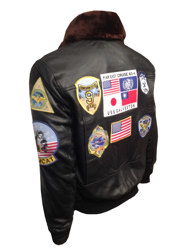 1a69ccfab3c TOM CRUISE PETE MAVERICK TOP GUN FLIGHT BOMBER REAL LEATHER JACKET BLACK