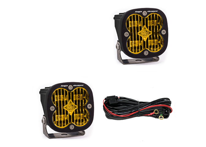 Baja Designs Squadron SAE LED Light [PAIR] - Amber