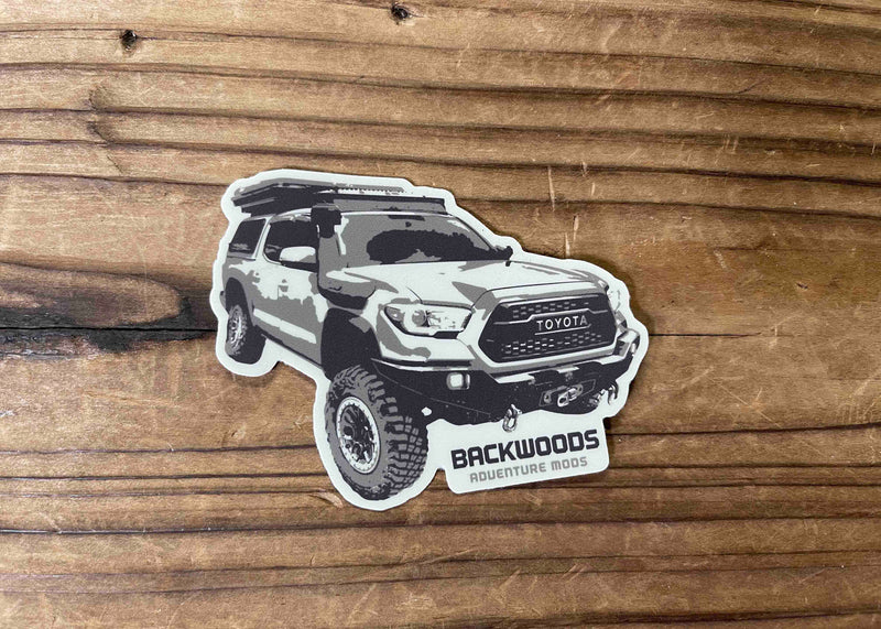 Backwoods Tacoma Sticker