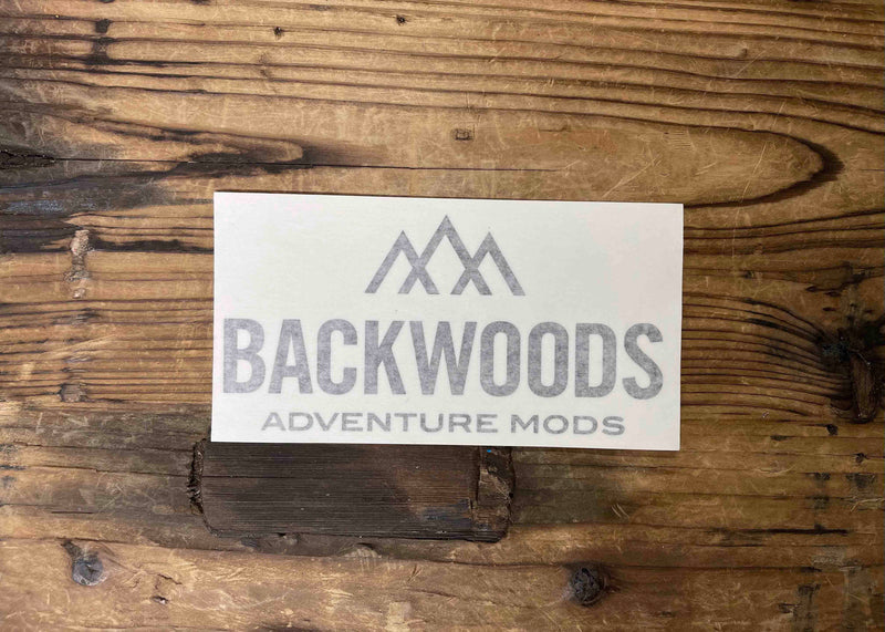 Backwoods Black Window Decal