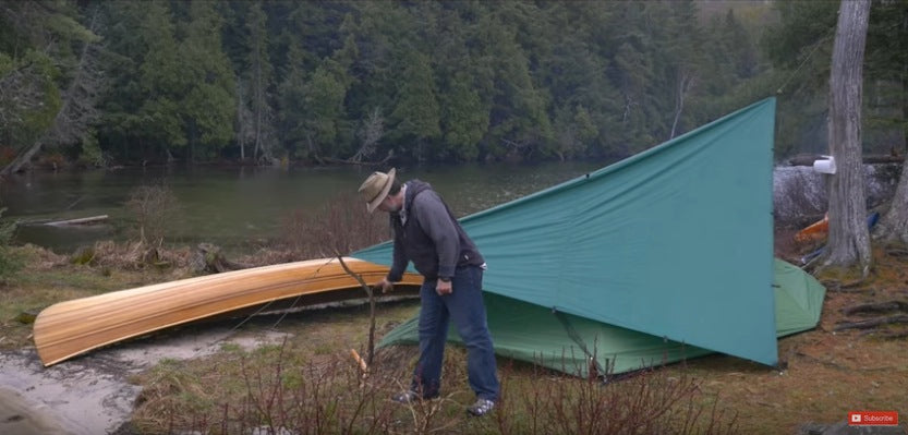 construct a tarp over your tent