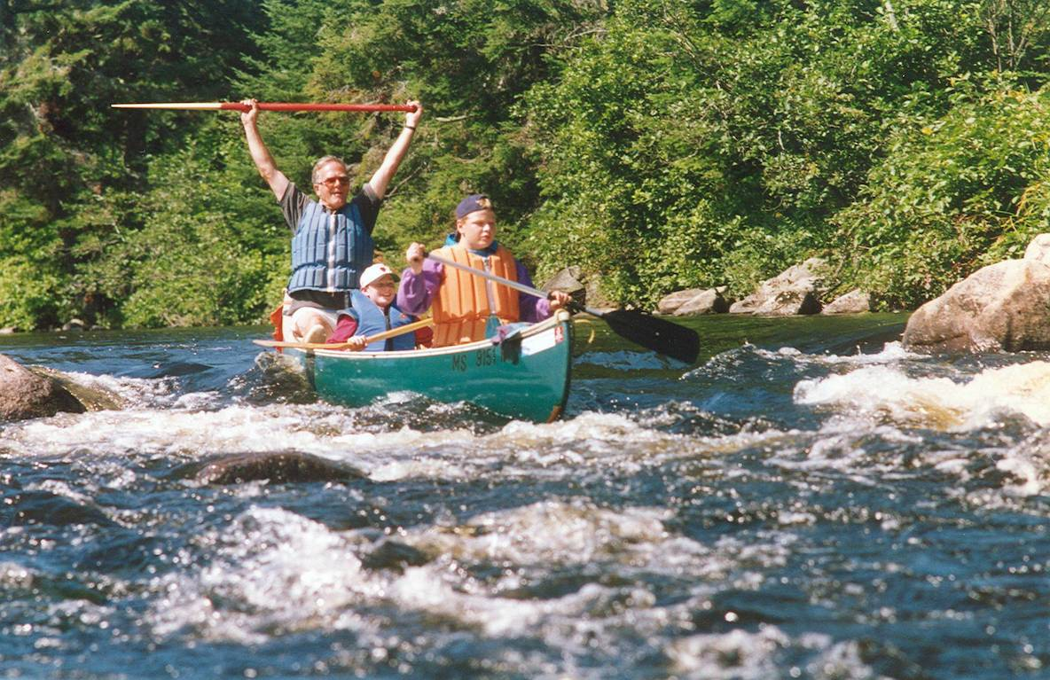 canoeing river rapids