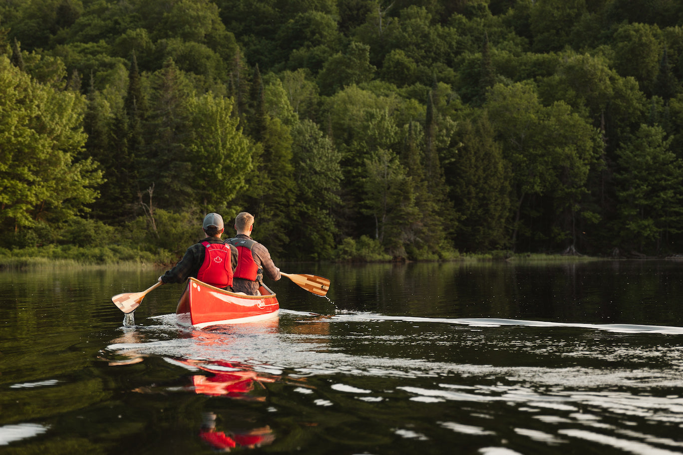 canoeists on the water
