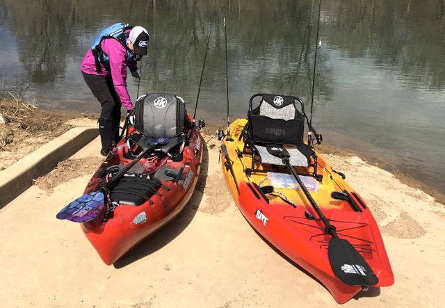 kayak angler ready to launch