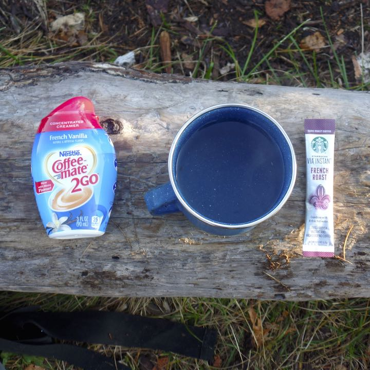 instant camp coffee option