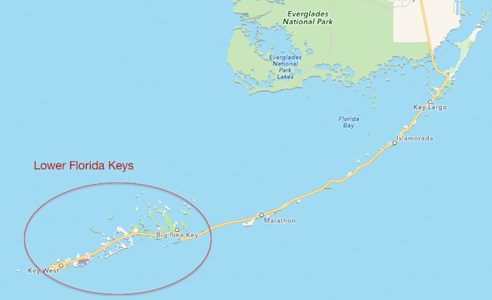 map of lower floriday keys