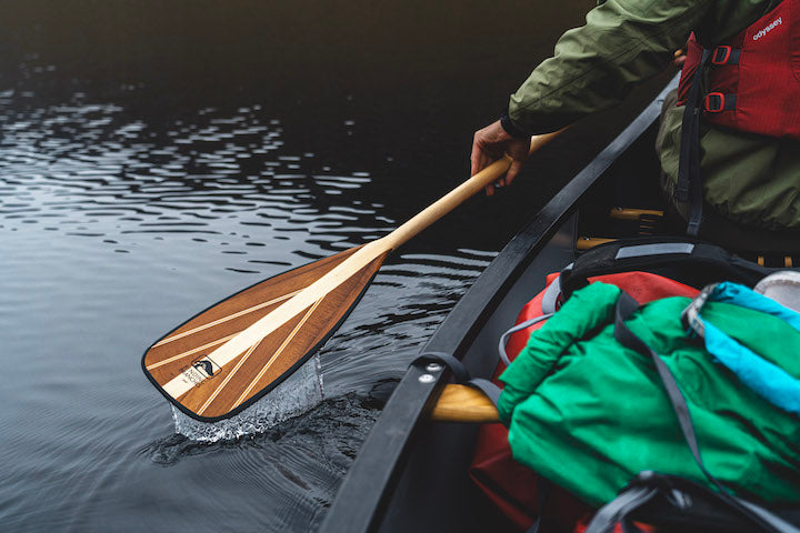 bending branches canoe paddle