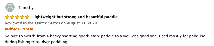 BB special canoe paddle review