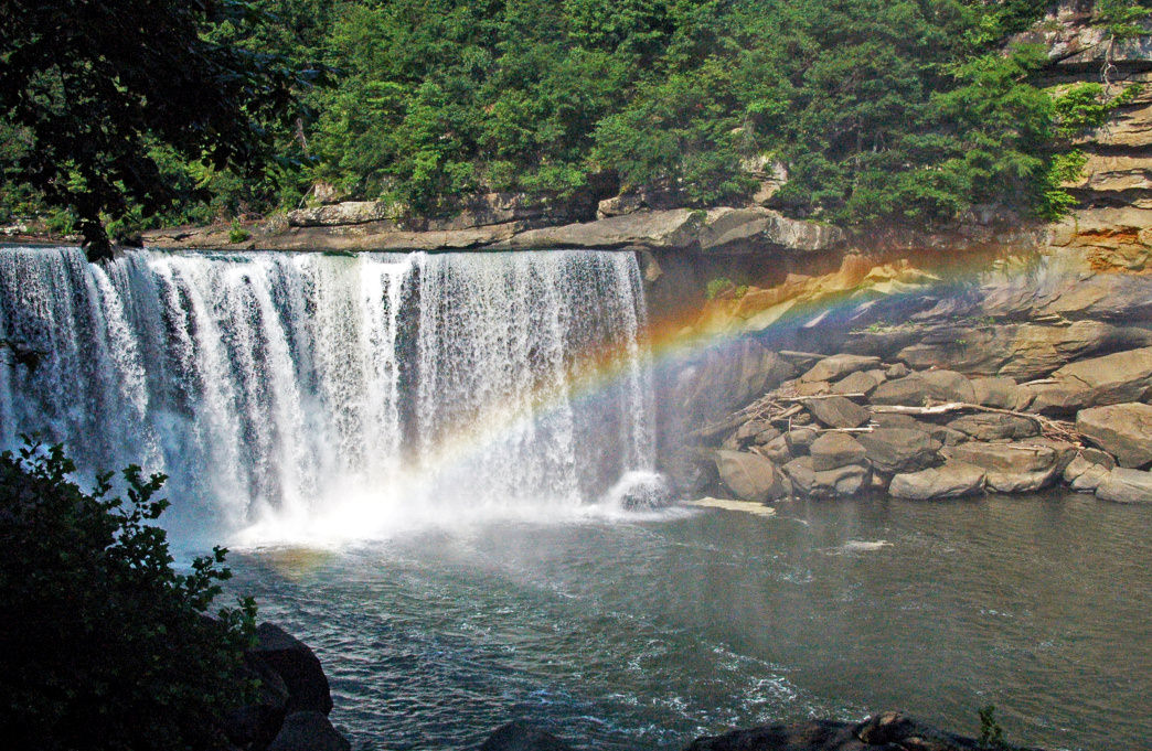 Enjoy the beauty of Cumberland Falls while paddling on the Cumberland River.  James St. John