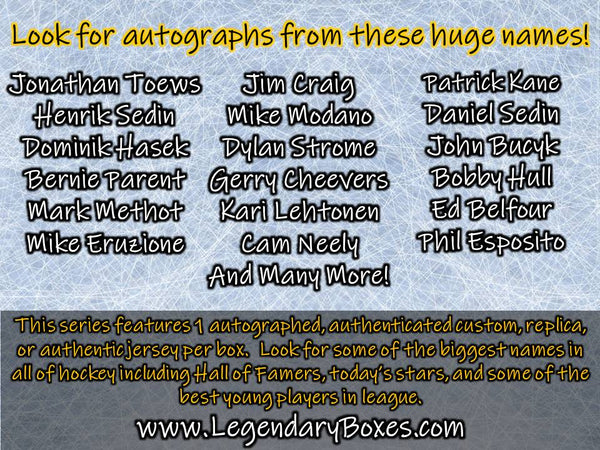 Autographed Hockey Jersey - Standard Edition '19-'20 Series 1 - 5 BOX CASE